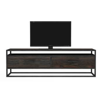 Meuble Tv 2 tiroirs Bois Recyclé Chicago