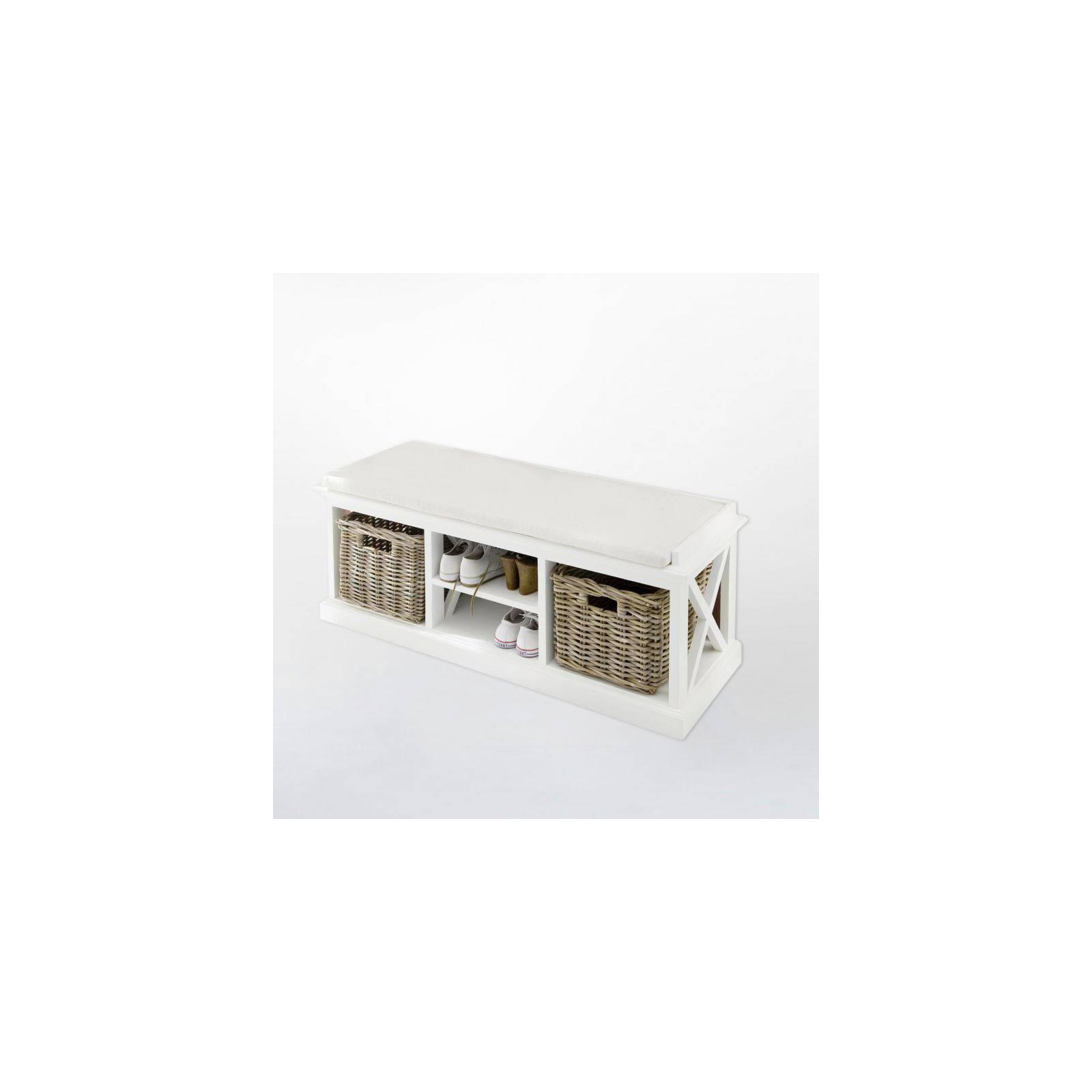 Banc Paniers Torini Acajou - meuble en bois massif
