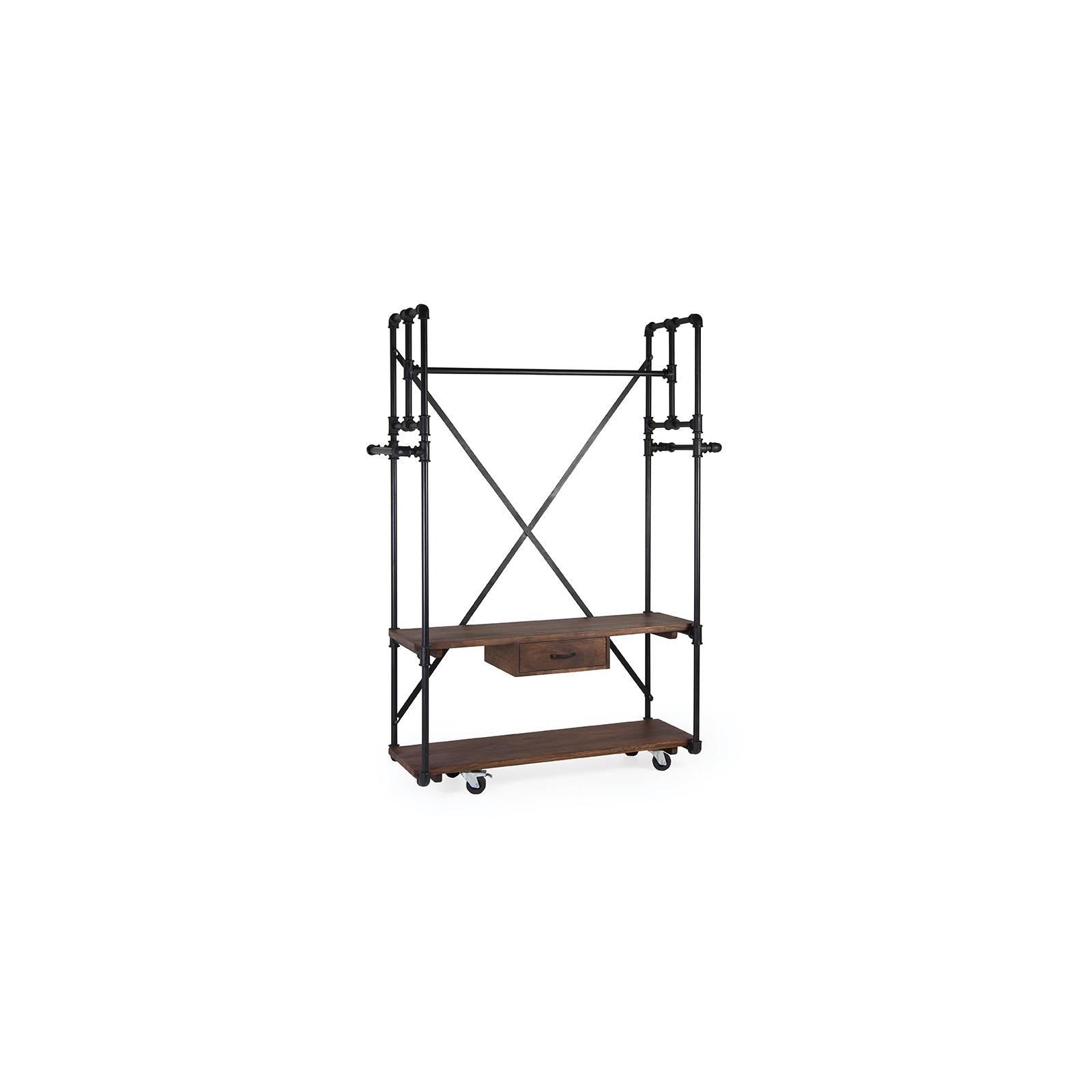 Vestière 1 tiroir 2 étagères Industriel Manguier