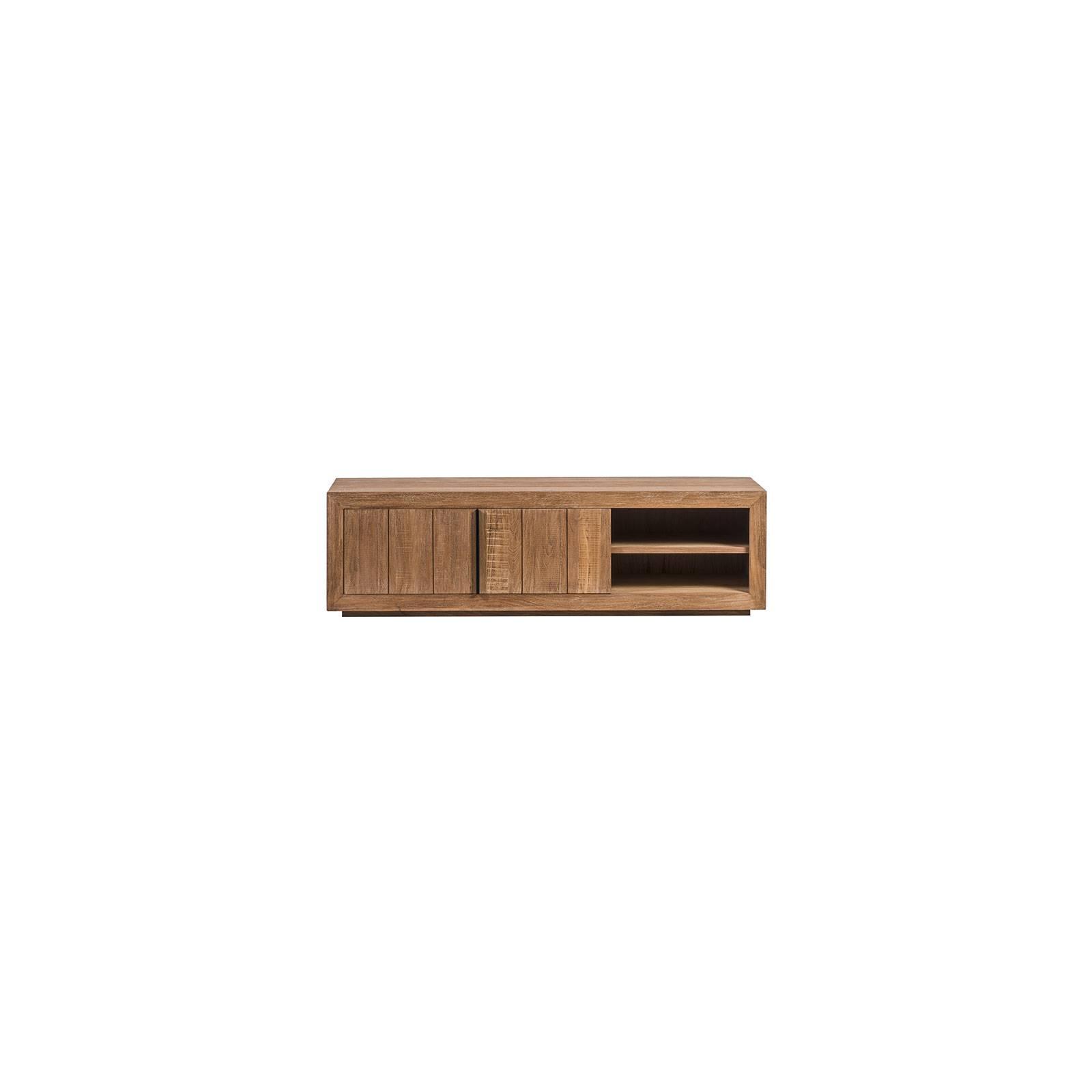Meuble TV haut de gamme en bois massif design ethnique