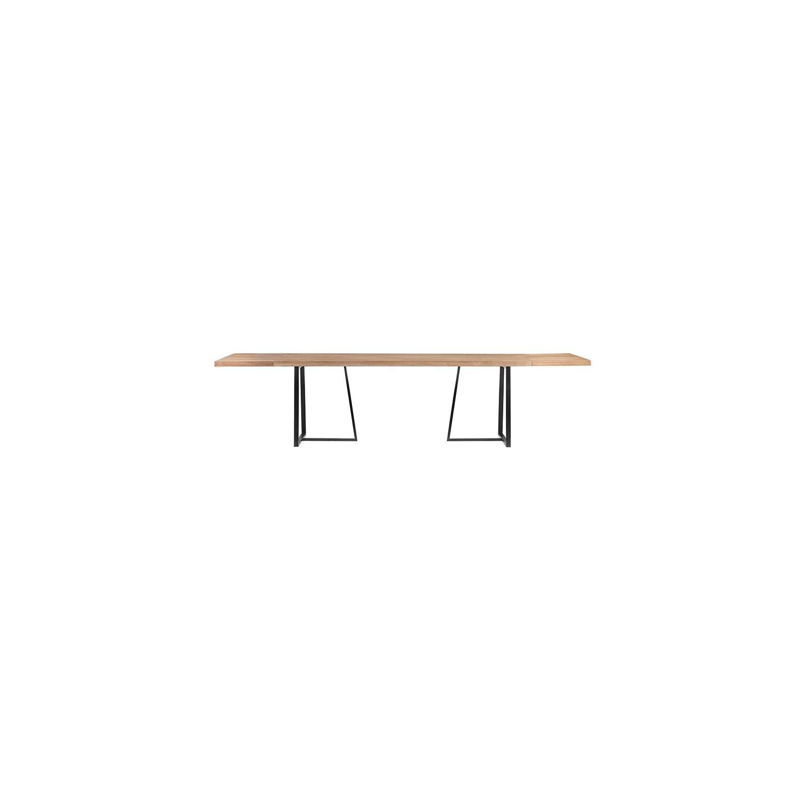 Table à rallonge Teck Recyclé et brossé - achat table luxe
