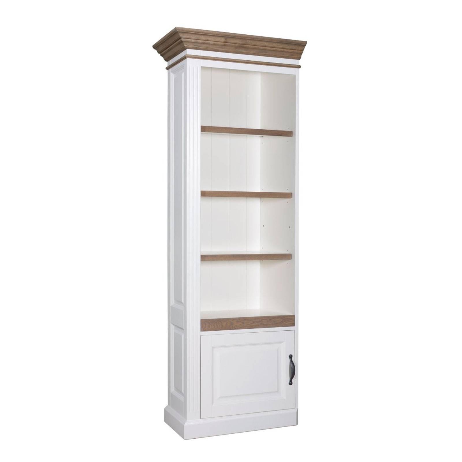 """Bibliothèque avec porte """"Chêne et Pin Romance"""" - bibliothèque haut de gamme"""