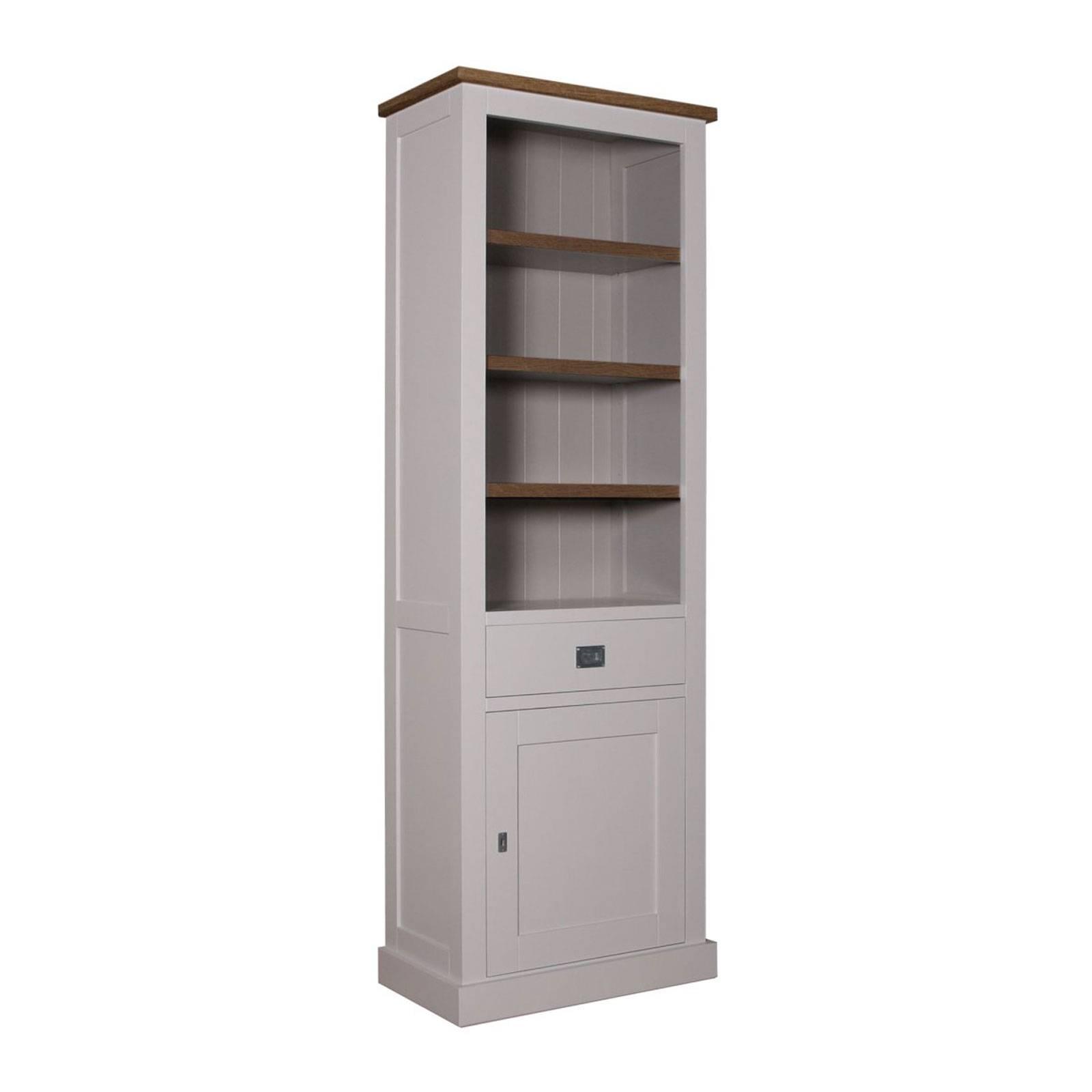 """Bibliothèque 1 porte 1 tiroir - tourne à droite """"Kubic Oak"""" - bibliothèque bois massif"""