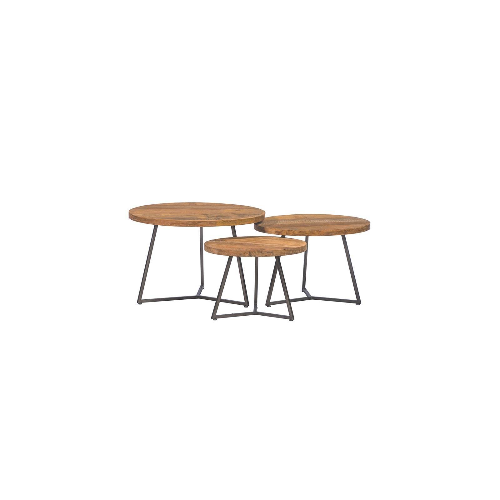 Set de 3 tables basses   Teck Essential