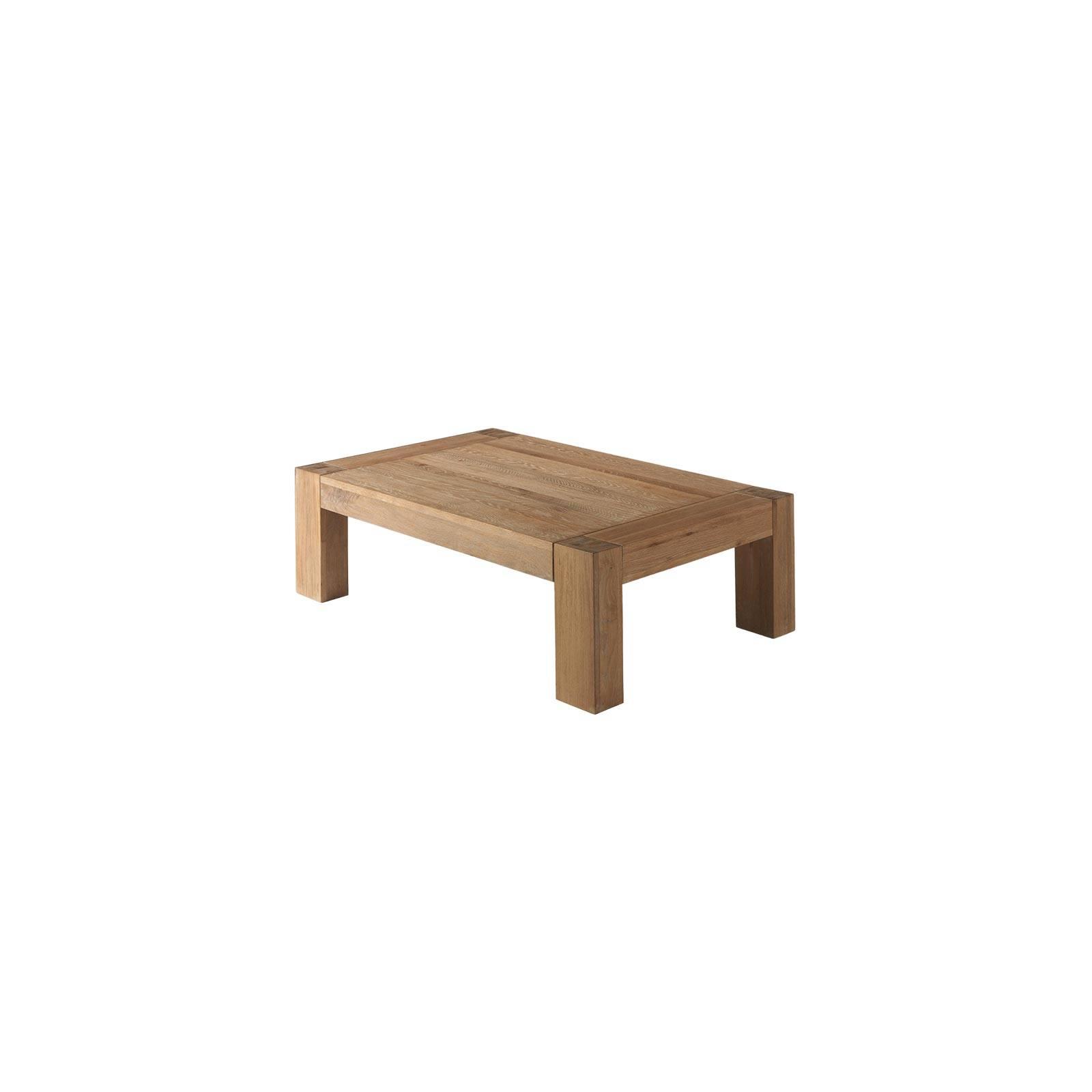 Table Basse Rectangulaire Chêne Massif Zeus