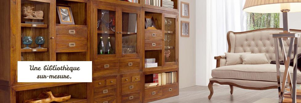 Bibliothèque sur-mesure avec les meubles Mindy Tali.