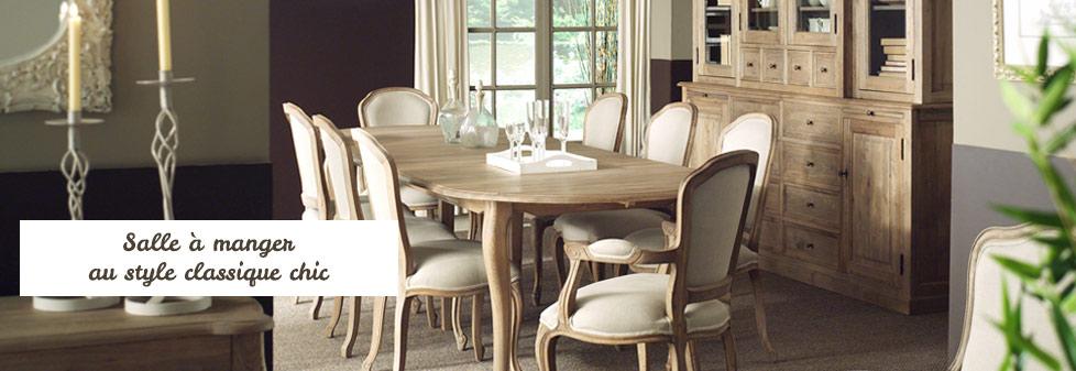 Décoration classique pour la salle à manger. Meubles en chêne Louise