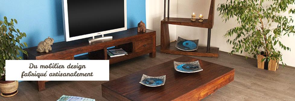 Tendance ethnique design avec le mobilier en palissandre