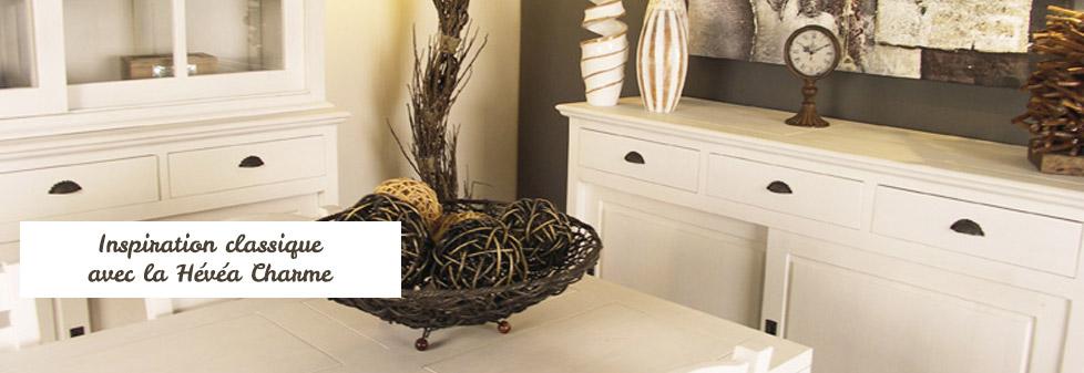 Meuble en bois massif - meuble hévéa