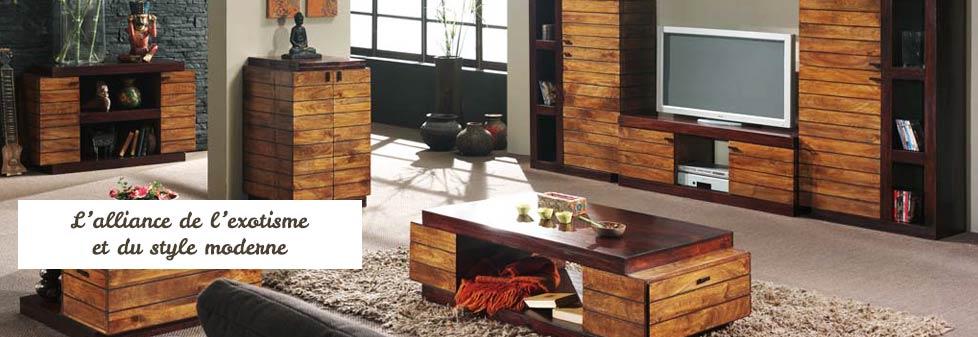 Meuble en bois exotique - mobilier Art Déco