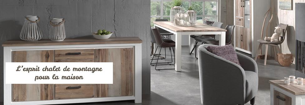 style chalet de montagne meubles en bois alpage. Black Bedroom Furniture Sets. Home Design Ideas