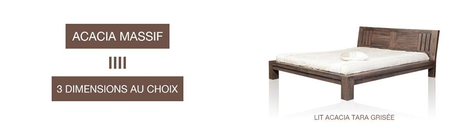 Lit bois massif meuble d co pour la chambre coucher for Meuble chambre a coucher bois massif