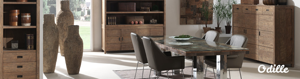 Table Teck Odille Pour Une Salle A Manger Design