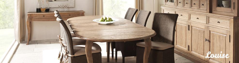 Meubles en chêne massif pour la salle à manger et le bureau